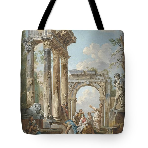 Homily Of An Apostle In Roman Ruins Tote Bag