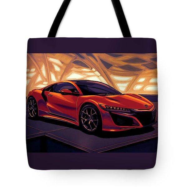 Honda Acura Nsx 2016 Mixed Media Tote Bag