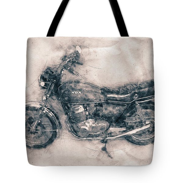 Honda Cb750 - Superbike - 1969 - Motorcycle Poster - Automotive Art Tote Bag