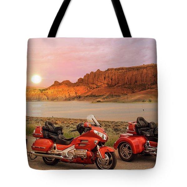 Honda Goldwing Bike Trike And Trailer Tote Bag