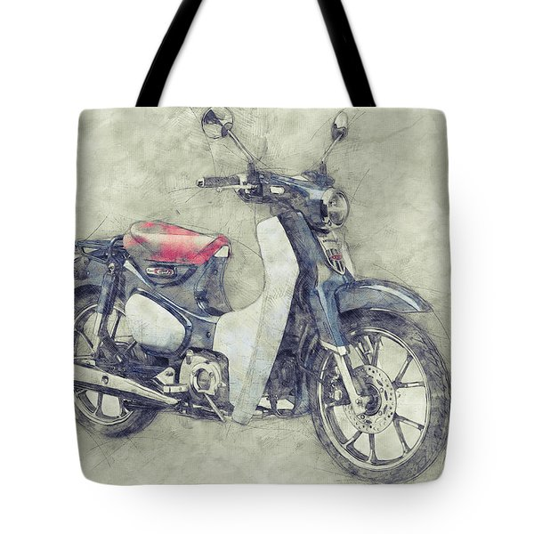 Honda Super Cub 1 - Motor Scooters - 1958 - Motorcycle Poster - Automotive Art Tote Bag