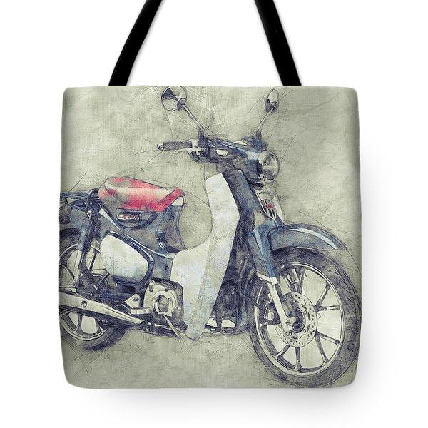 Honda Super Cub 1 - Motor Scooters - 1958 - Motorcycle Poster - Automotive Art Tote Bag