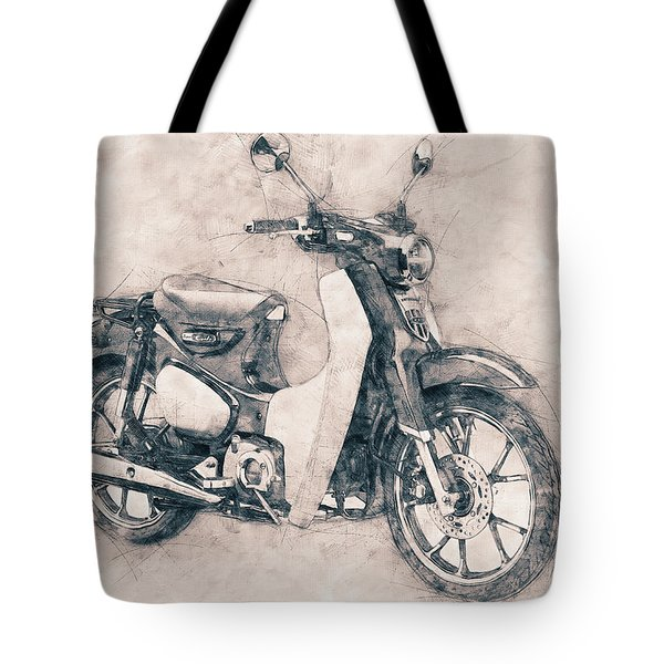 Honda Super Cub - Motor Scooters - 1958 - Motorcycle Poster - Automotive Art Tote Bag