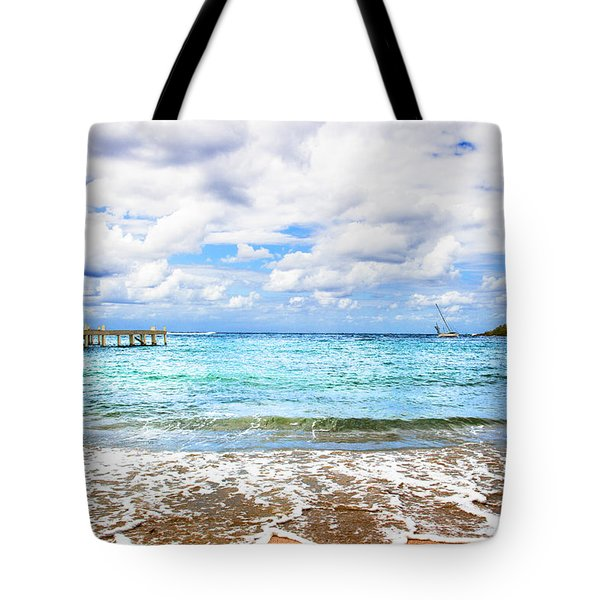 Honduras Beach Tote Bag by Marlo Horne