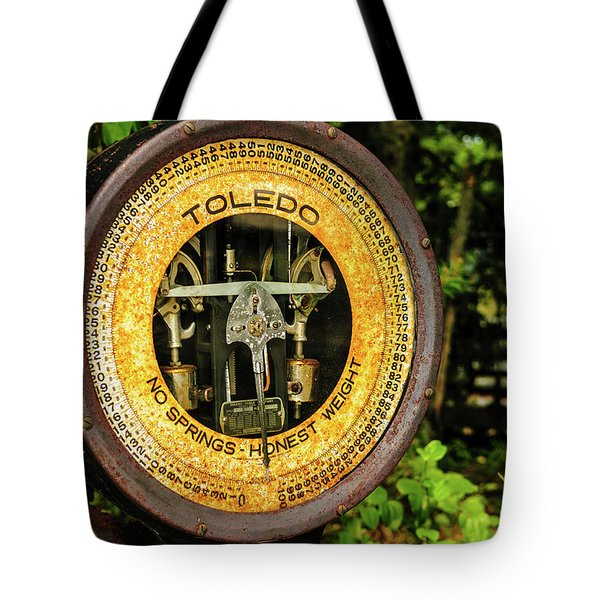 Tote Bag featuring the photograph Honest Weight by Louis Dallara