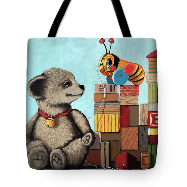 Honey Bear - Vintage Toys Tote Bag