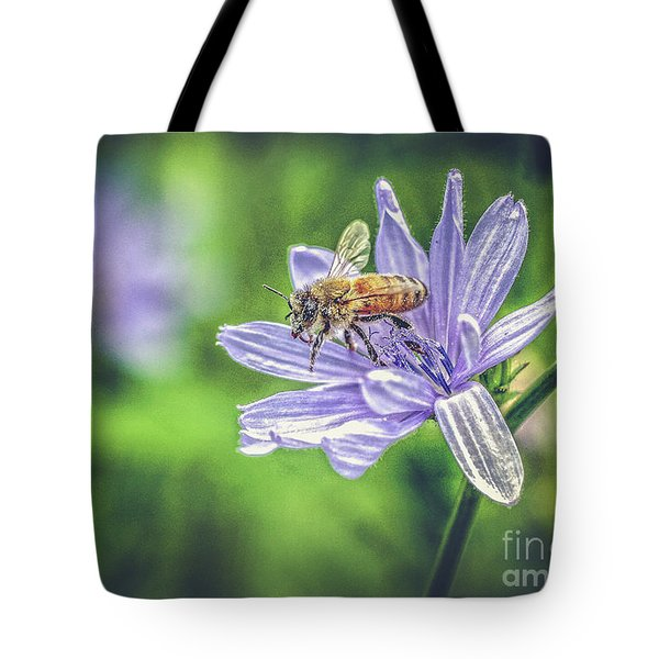 Honey Bee And Flower Tote Bag