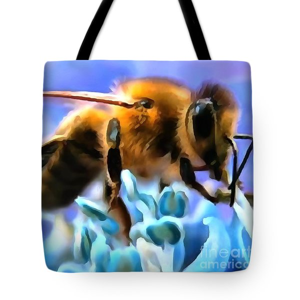Honey Bee In Interior Design Thick Paint Tote Bag
