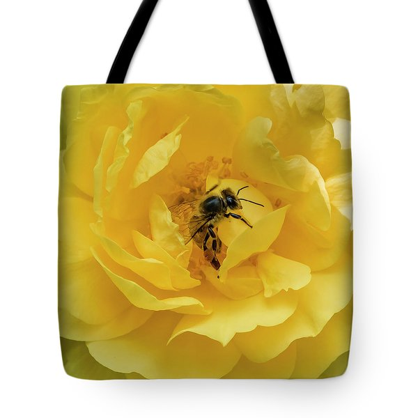Tote Bag featuring the photograph Honey Bee by Mark Mille