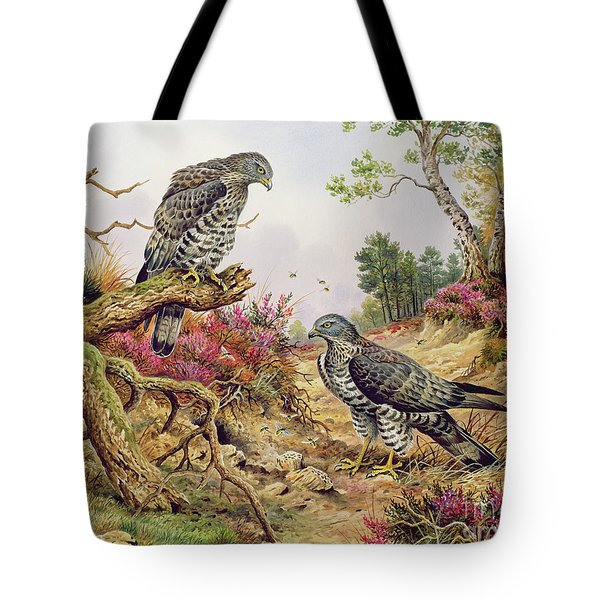 Honey Buzzards Tote Bag by Carl Donner