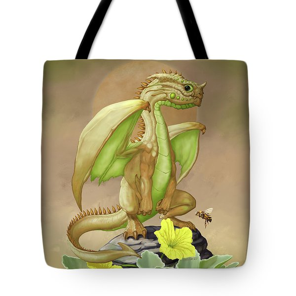 Tote Bag featuring the digital art Honey Dew Dragon by Stanley Morrison
