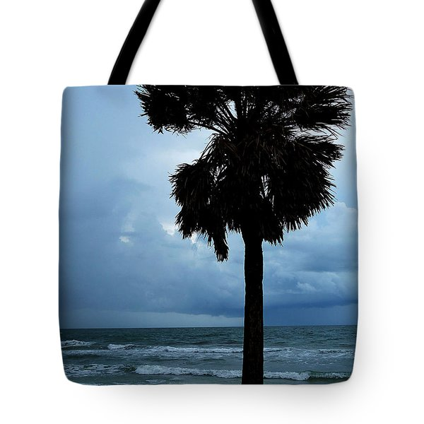 Tote Bag featuring the photograph Honey Moon Island North Beach Palm 001 by Chris Mercer