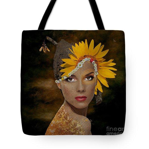Tote Bag featuring the digital art Honey by Nola Lee Kelsey