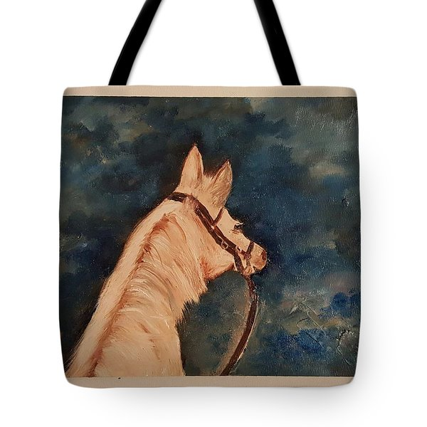Honey Palomino Horse 28 Tote Bag