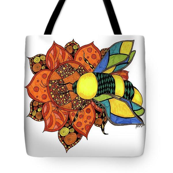 Honeybee On A Flower Tote Bag