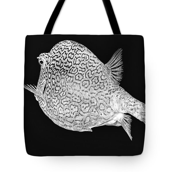 Honeycomb Cowfish Tote Bag by Perla Copernik