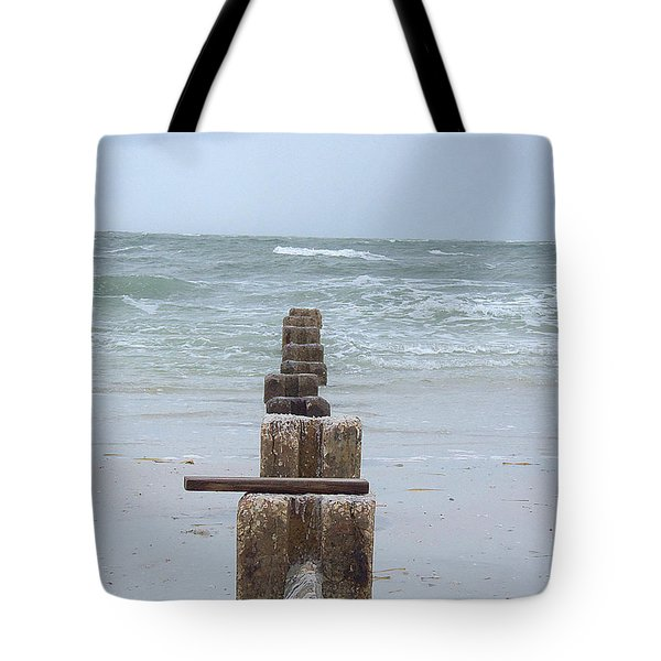 Tote Bag featuring the photograph Honeymoon Island Storm Watch by Chris Mercer