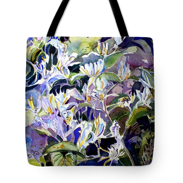 Honeysuckle Fairies Tote Bag by Mindy Newman