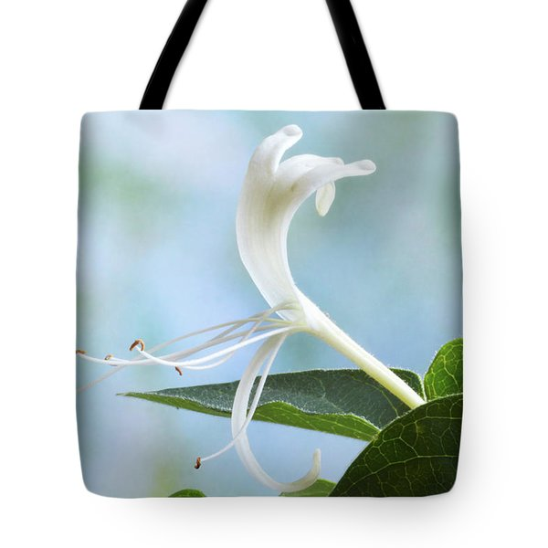Tote Bag featuring the photograph Honeysuckle Portrait. by Terence Davis