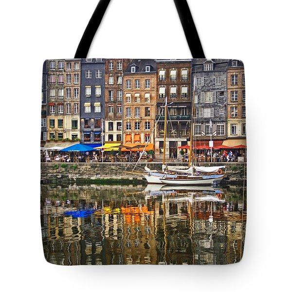 Honfleur France Tote Bag by Ann Garrett