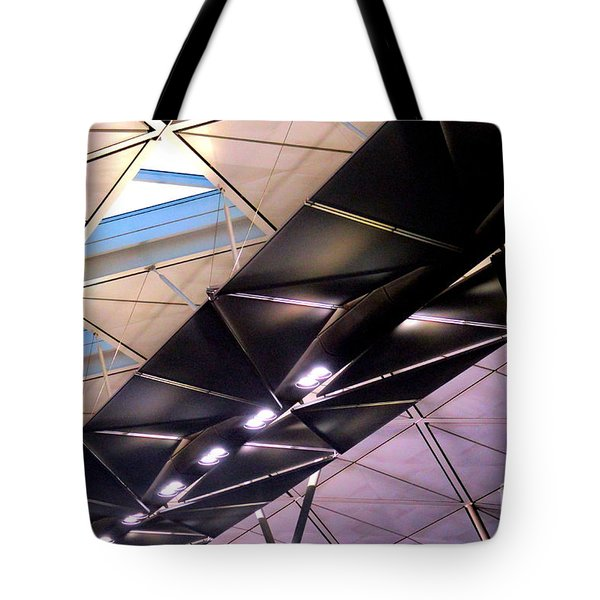 Tote Bag featuring the photograph Hong Kong Airport by Randall Weidner
