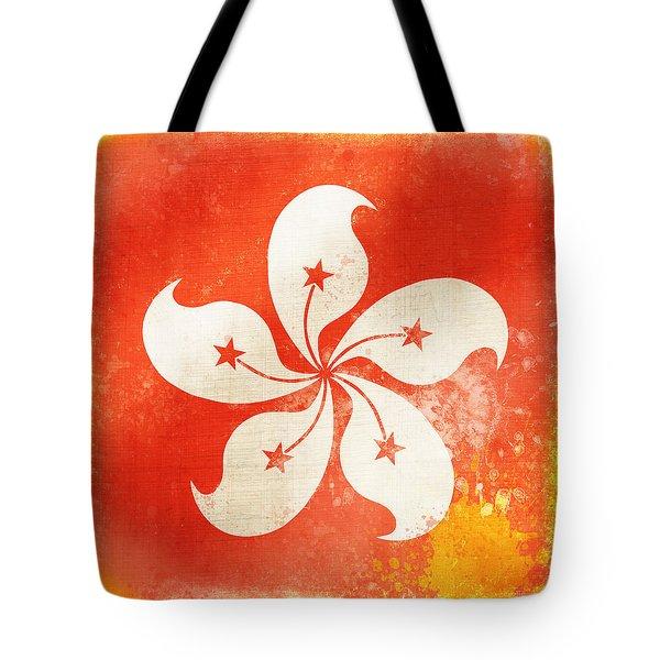 Hong Kong China Flag Tote Bag by Setsiri Silapasuwanchai
