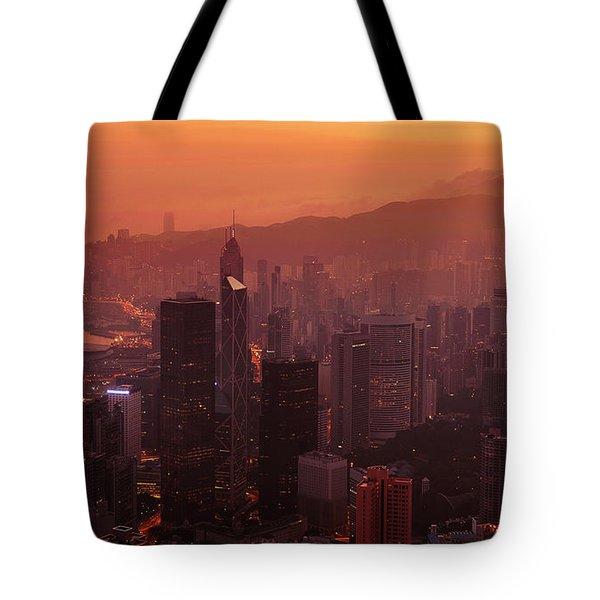Hong Kong City View From Victoria Peak Tote Bag
