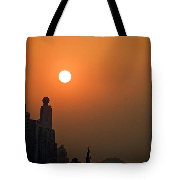 Hong Kong Coast Tote Bag by Ray Laskowitz - Printscapes