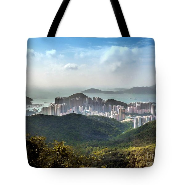 Hong Kong From Victoria Peak Tote Bag