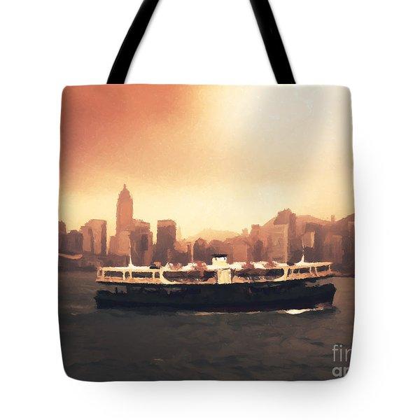 Hong Kong Harbour 01 Tote Bag