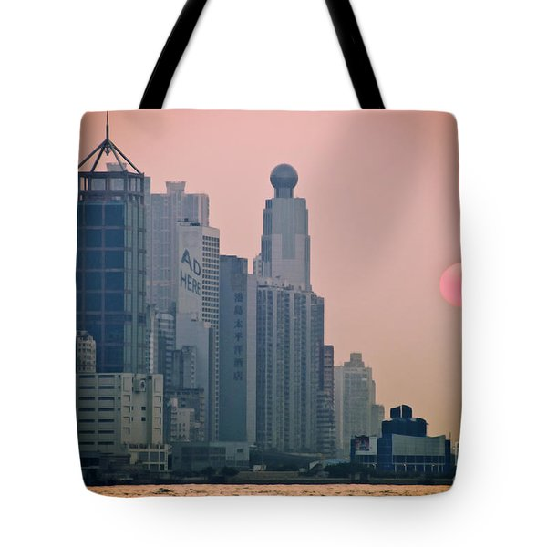 Hong Kong Island Tote Bag by Ray Laskowitz - Printscapes