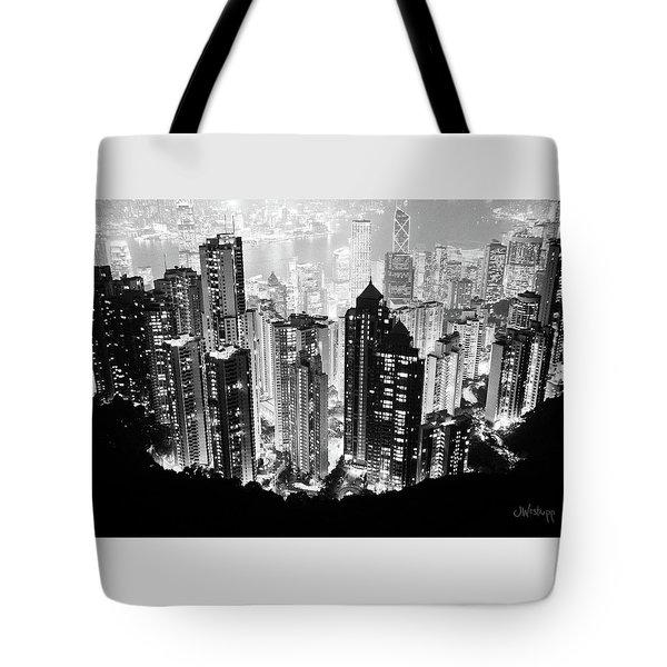 Hong Kong Nightscape Tote Bag by Joseph Westrupp