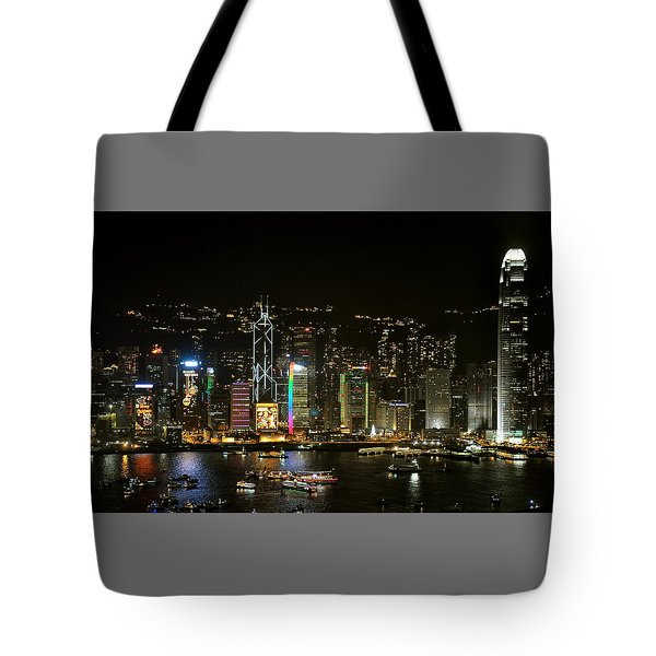 Hong Kong On A December Night Tote Bag