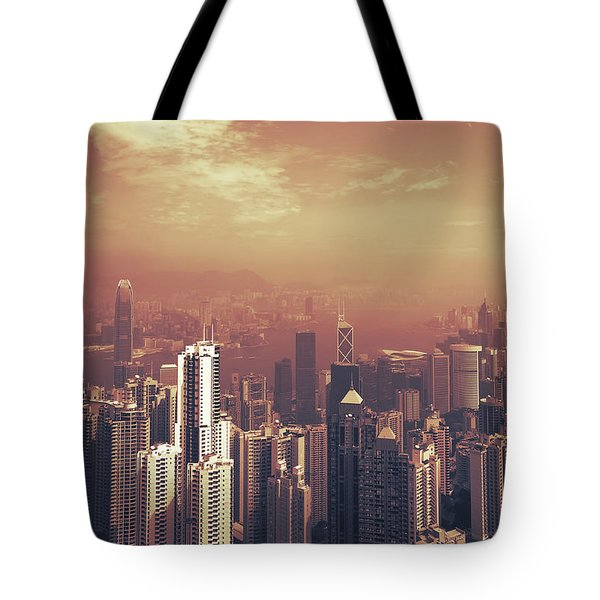 Tote Bag featuring the photograph Hong Kong Portrait by Joseph Westrupp