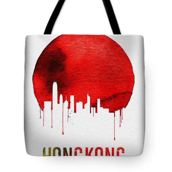 Hong Kong Skyline Red Tote Bag