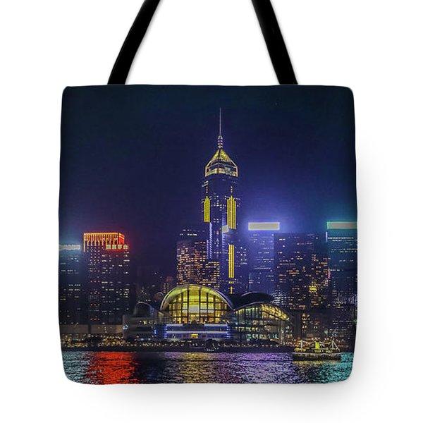 Hongkong At Night Tote Bag