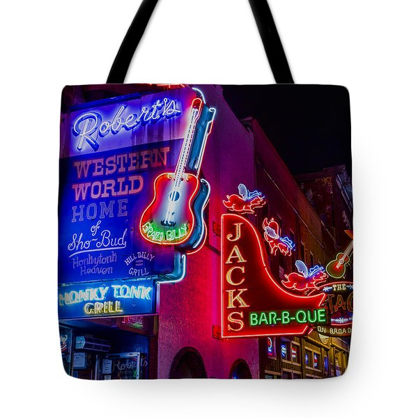 Honky Tonk Broadway Tote Bag by Stephen Stookey