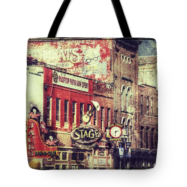 Honky Tonk Row - Nashville Tote Bag
