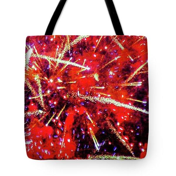 Honolulu Fireworks Tote Bag