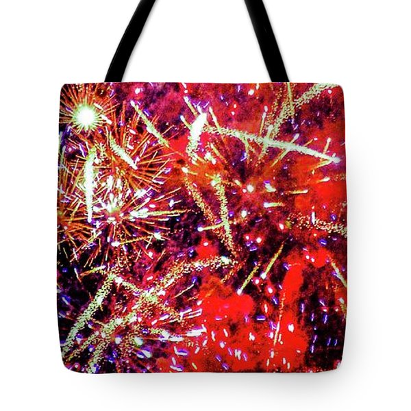Honolulu Fireworks Tote Bag