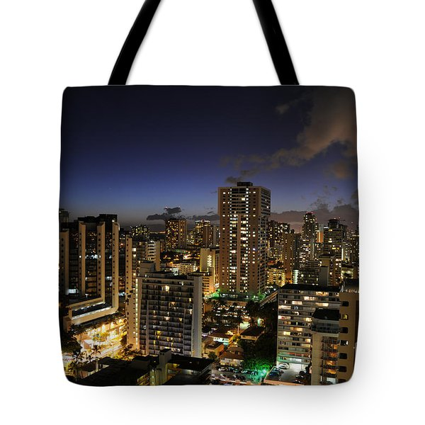 Honolulu Nights Tote Bag