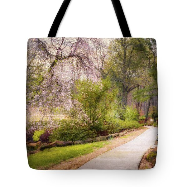 Tote Bag featuring the photograph Honor Heights Pathway by James Barber