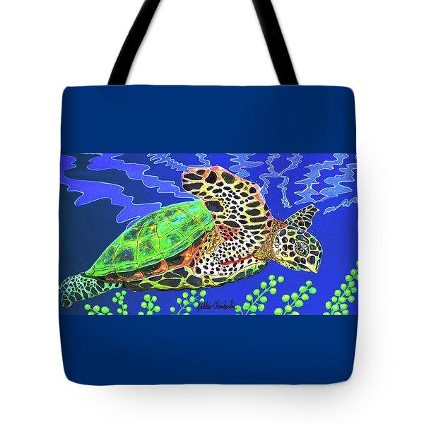 Honu Tote Bag by Debbie Chamberlin