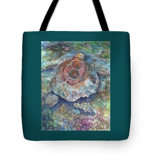 Honu Ill Tote Bag by Kerri Ligatich