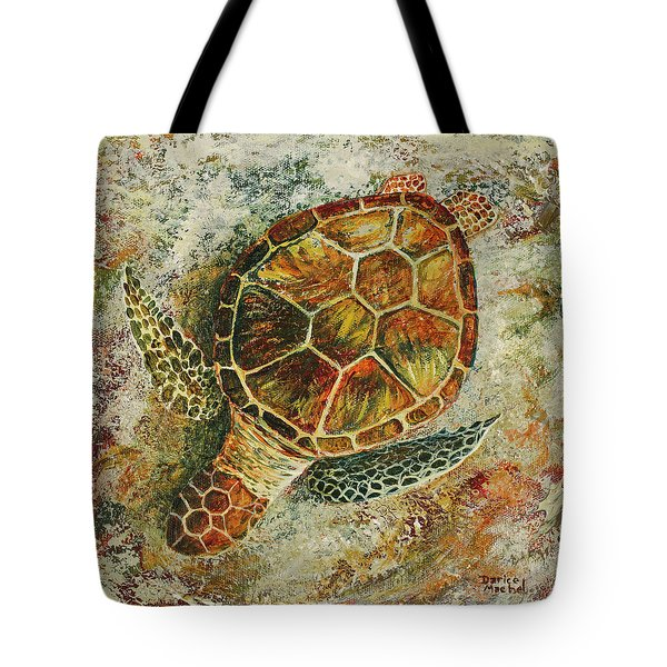 Tote Bag featuring the painting Honu On The Beach by Darice Machel McGuire