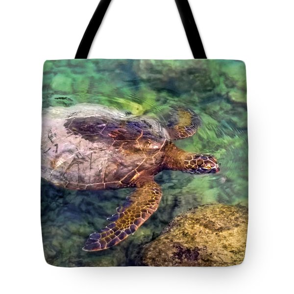 Honu Tote Bag by Pamela Walton