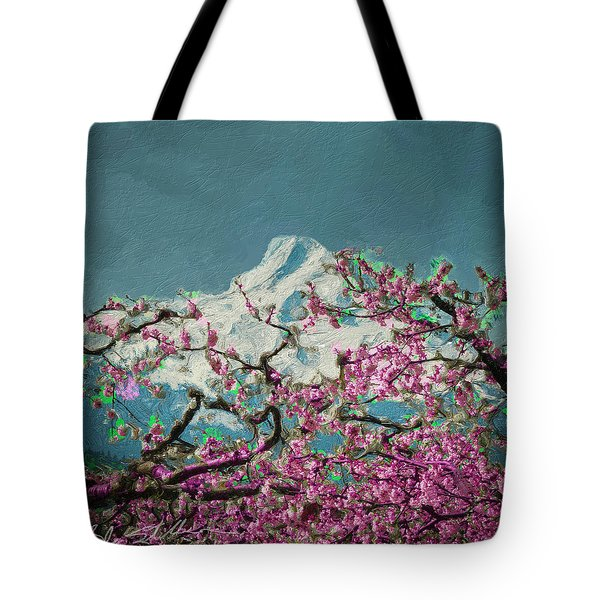 Hood Blossoms Tote Bag by Dale Stillman