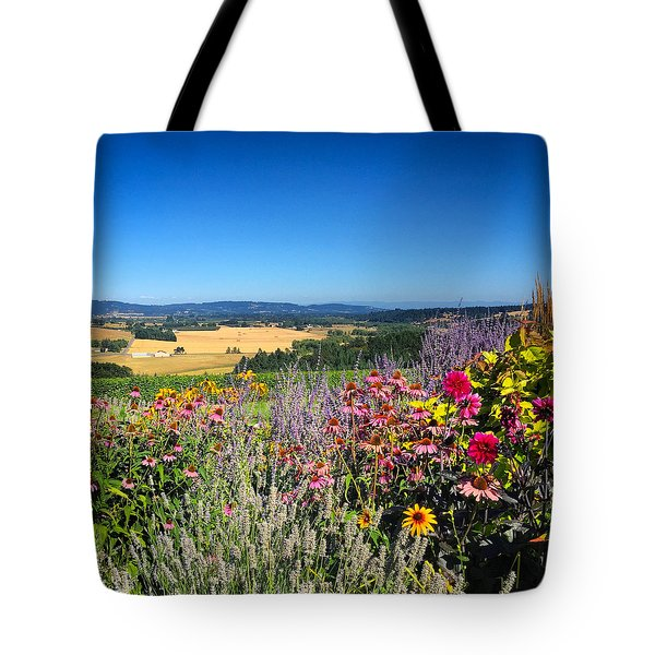 Hood River Valley Flowers Tote Bag
