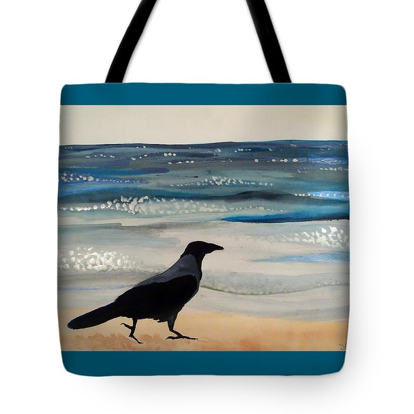 Hooded Crow At The Black Sea By Dora Hathazi Mendes Tote Bag by Dora Hathazi Mendes