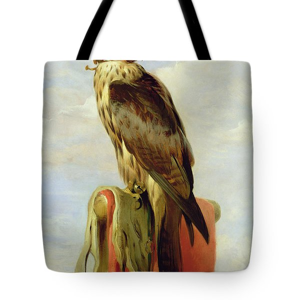 Hooded Falcon Tote Bag by Sir Edwin Landseer